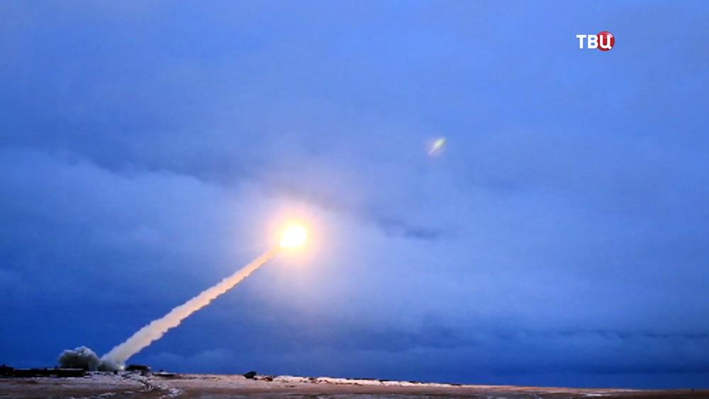 Пуск российской ракеты показали в ходе выступления президента с посланием