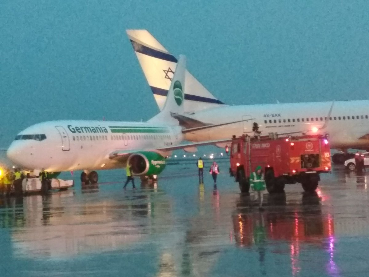 В аэропорту Тель-Авива произошло крупное ЧП с участием двух самолетов