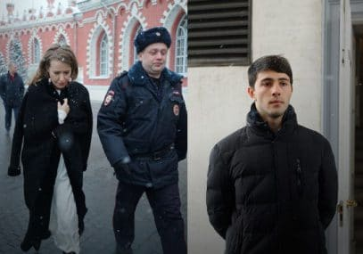 """""""Упала я сама"""". Появились кадры нападения сторонника Жириновского на Собчак"""