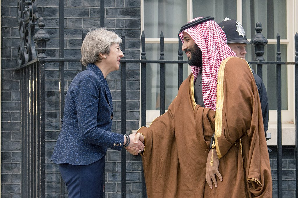 Саудовский наследник с премером Британии