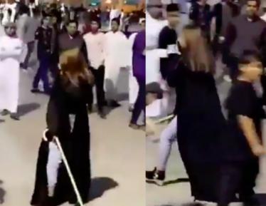 Саудовская женщина избила толпу мужчин в парке (ВИДЕО)