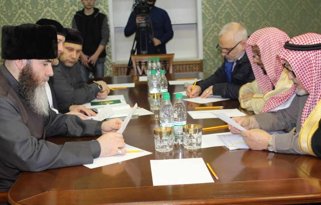 Переговоры саудовских гостей с муфтием Чечни