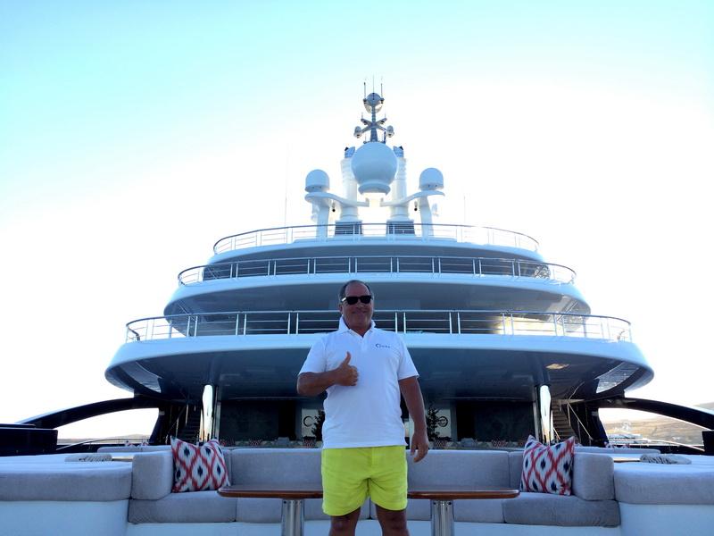 Фархад Ахмедов и его яхта