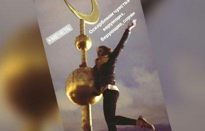 Сэлфи с полумесяцем. Руфер залезла на купол Соборной мечети Петербурга