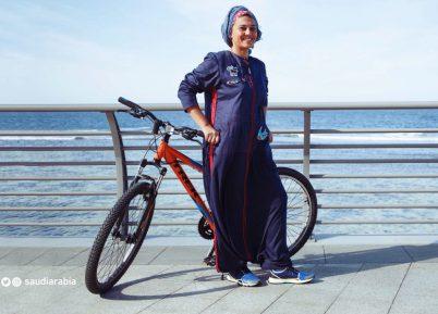 Саудовский дизайнер разработала вело-абайю