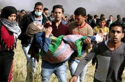 Раненные демонстранты