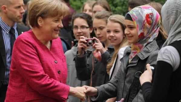 Меркель на встрече со студентами