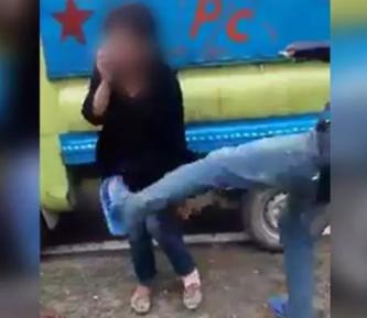 Жесткое избиение девушки за роман с мусульманином попало на камеру (ВИДЕО 18+)