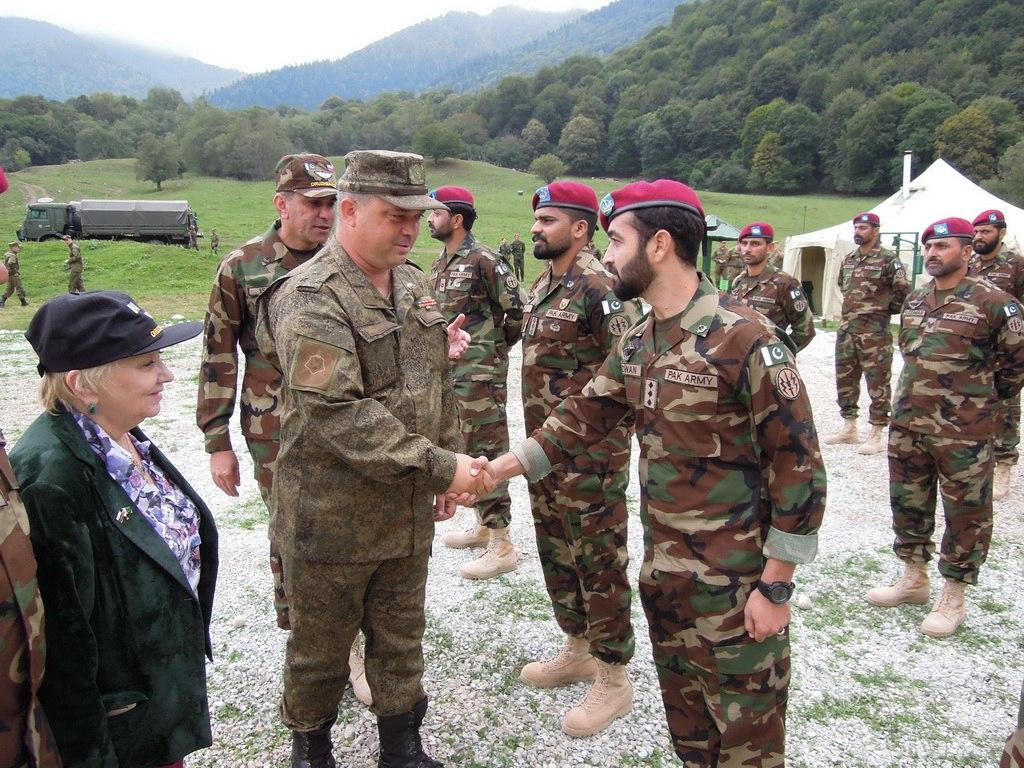 Военные России и Пакистана на учения в Карачаево-Черкессии