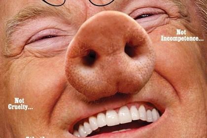 Трамп предстал в образе свиньи