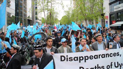 В Брюсселе прошла массовая манифестация против репрессий мусульман в Китае