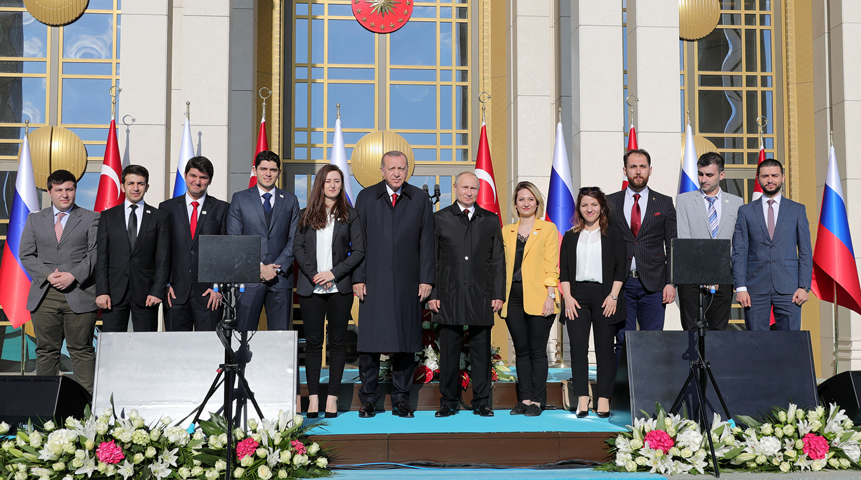 Визит президента РФ Владимира Путина в Турцию