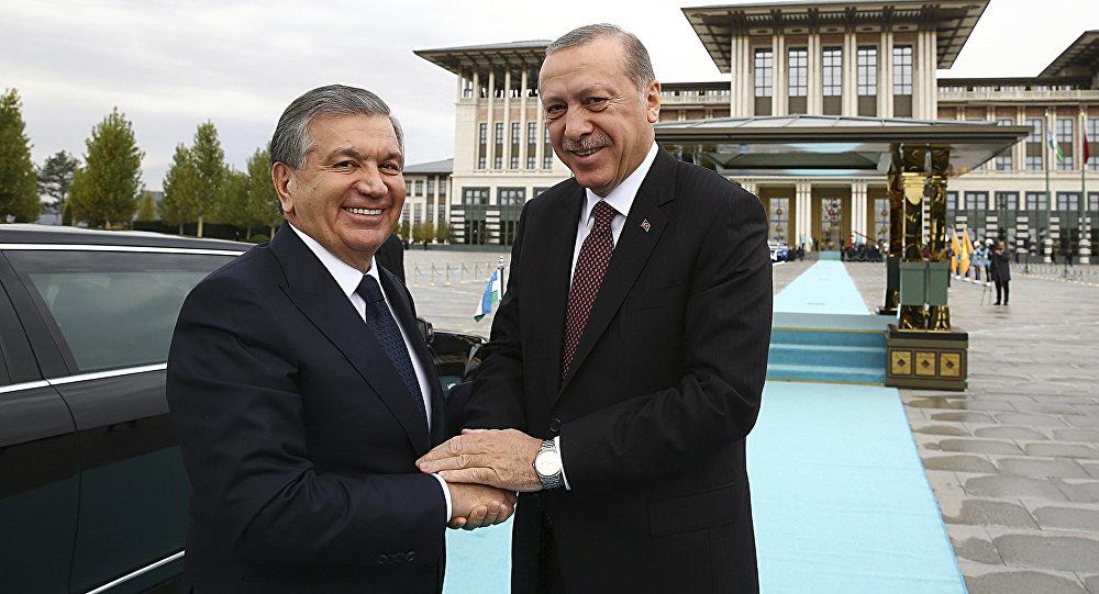 Президенты Узбекистана и Турции
