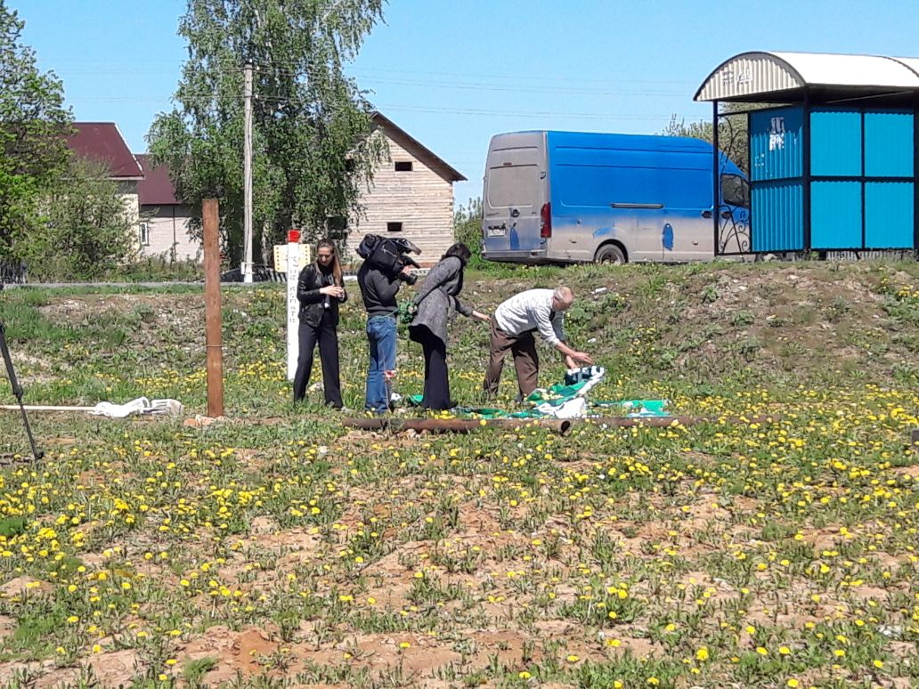 Татарстанская съемочная группа делает материал о происшествии