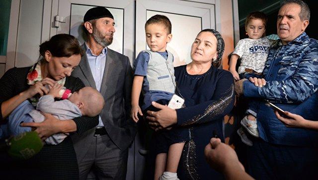 Возвращенные из Ирака российские дети
