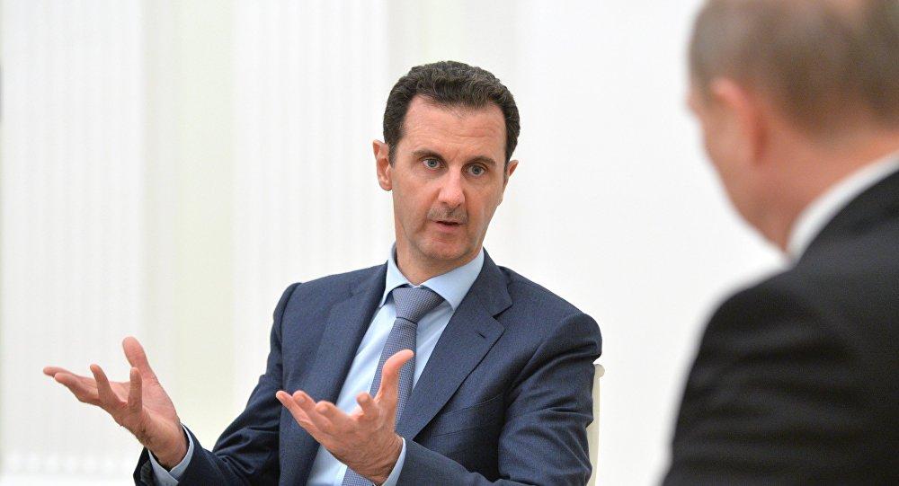 Башар Асад на встрече с Владимиром Путиным. Фото: Спутник