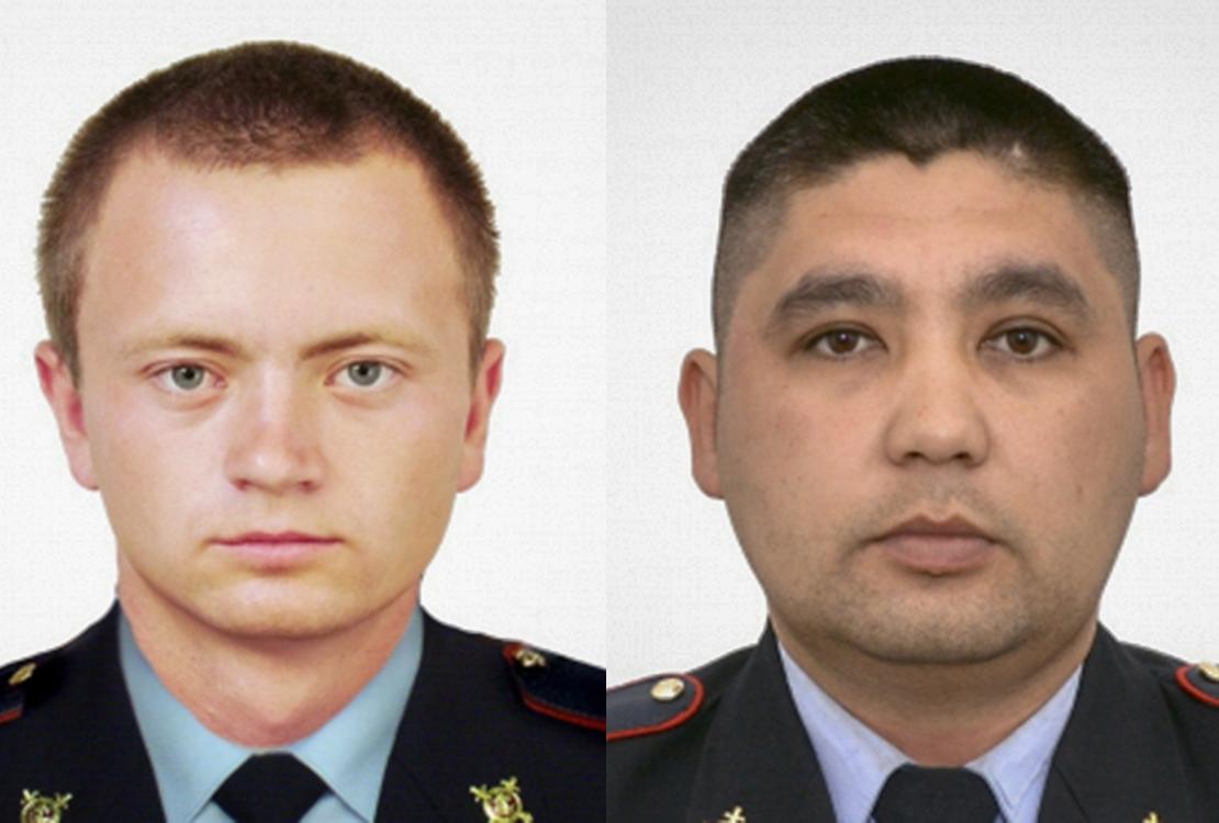 Погибшие полицейские Владимир Горсков и Кайрат Рахметов