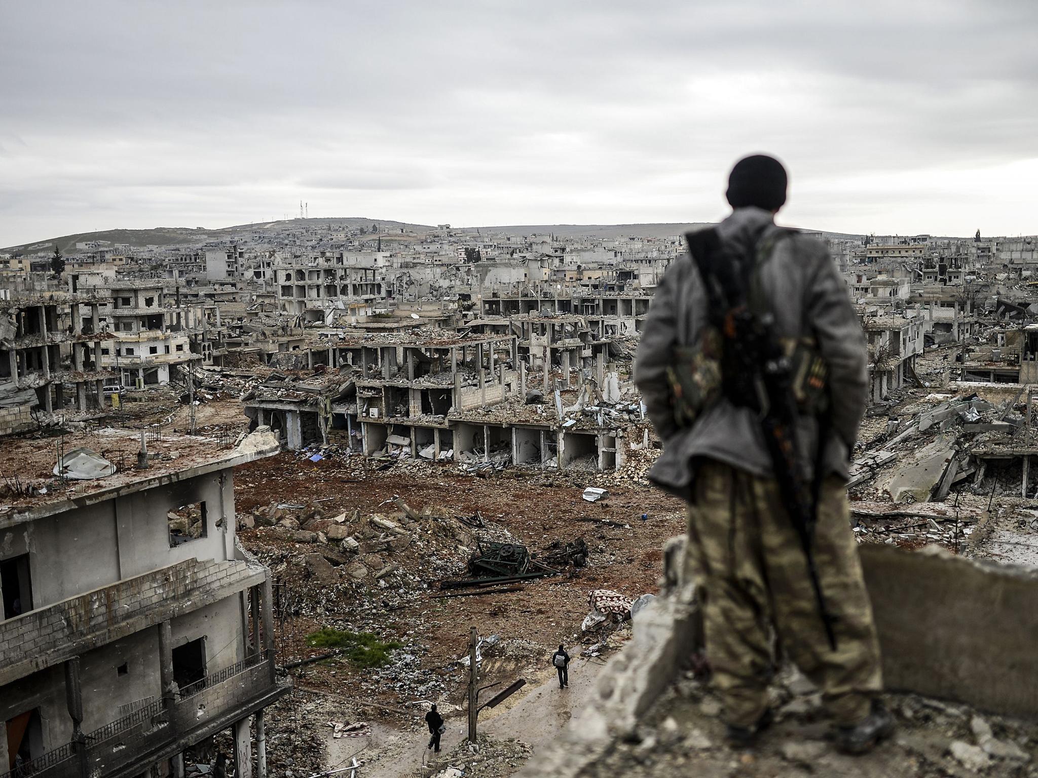 Разрушенная войной Сирия