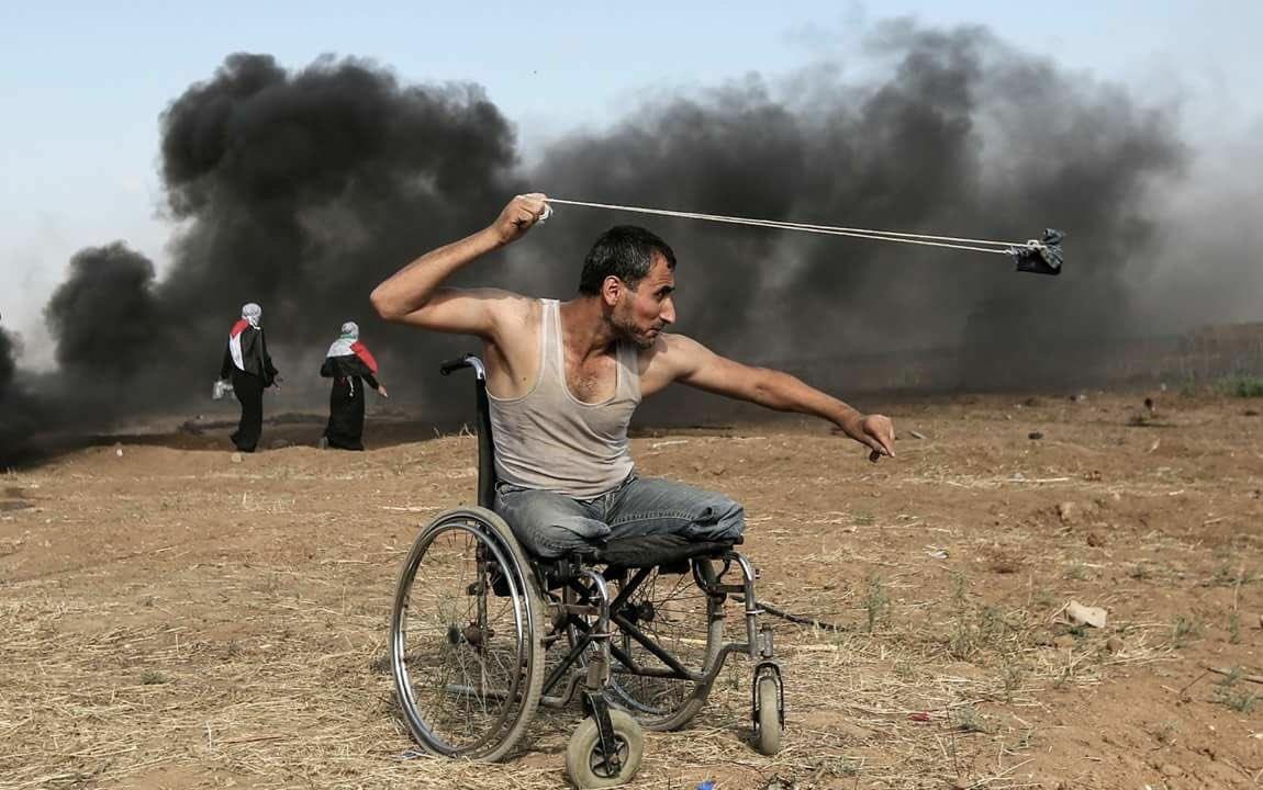 Израильские силовики не пощадили палестинца на инвалидной коляске в Газе