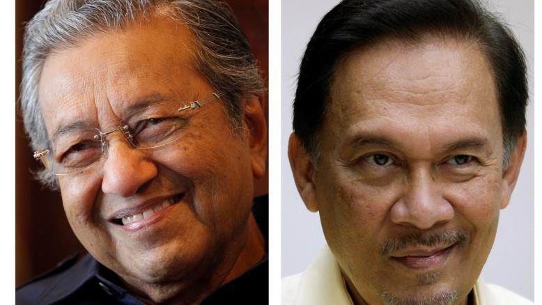 Махатхир Мохамад и Анвар Ибрагим