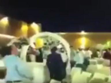 Сирийская ракета вызвала панику на свадьбе в Израиле (ВИДЕО)