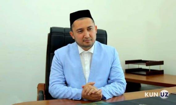 На фото: временно исполняющий обязанности главного имам-хатыба Ташкента Рахимберди Рахмонов