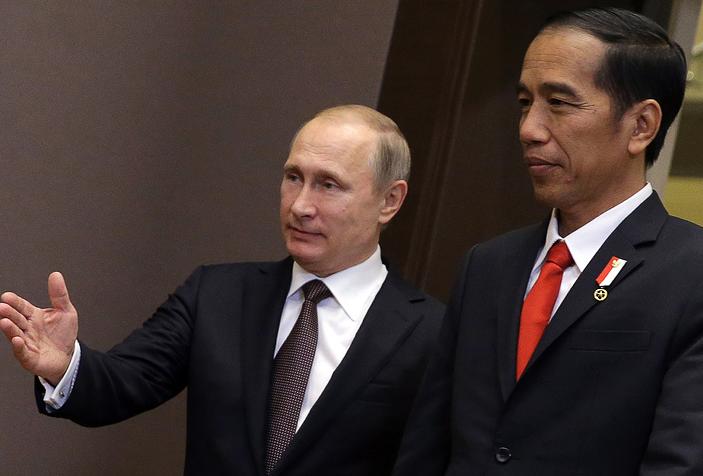 Президенты Путин и Видодо
