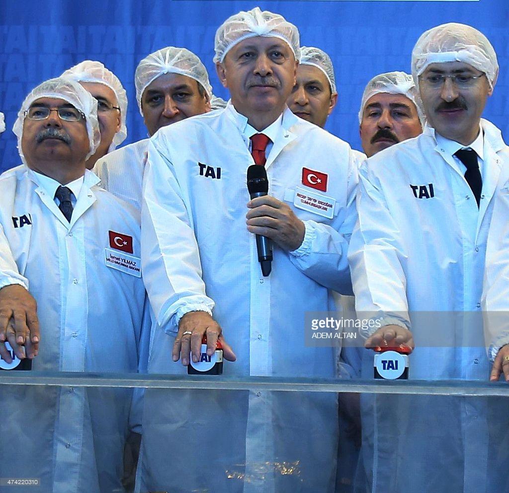 Эрдоган во время открытия космического центра в Анкаре в мае 2015 года