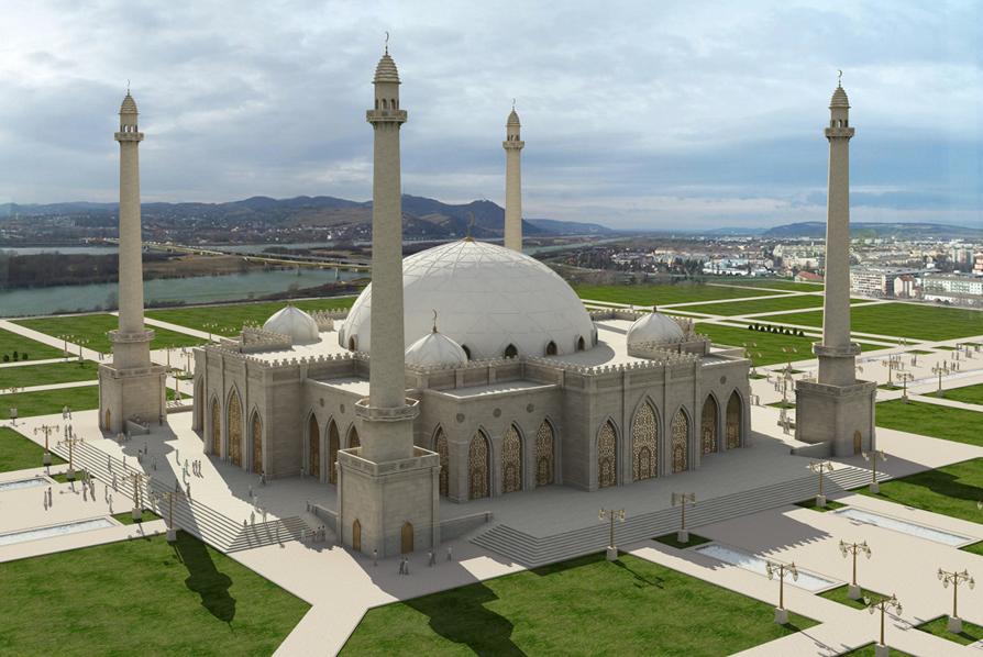 Соборная мечеть в столице Ингушетии