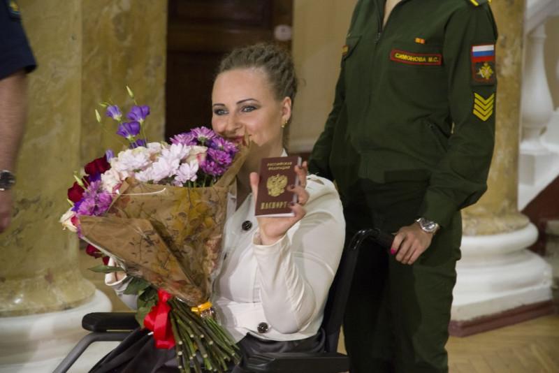Ирина Баракат с российским паспортом