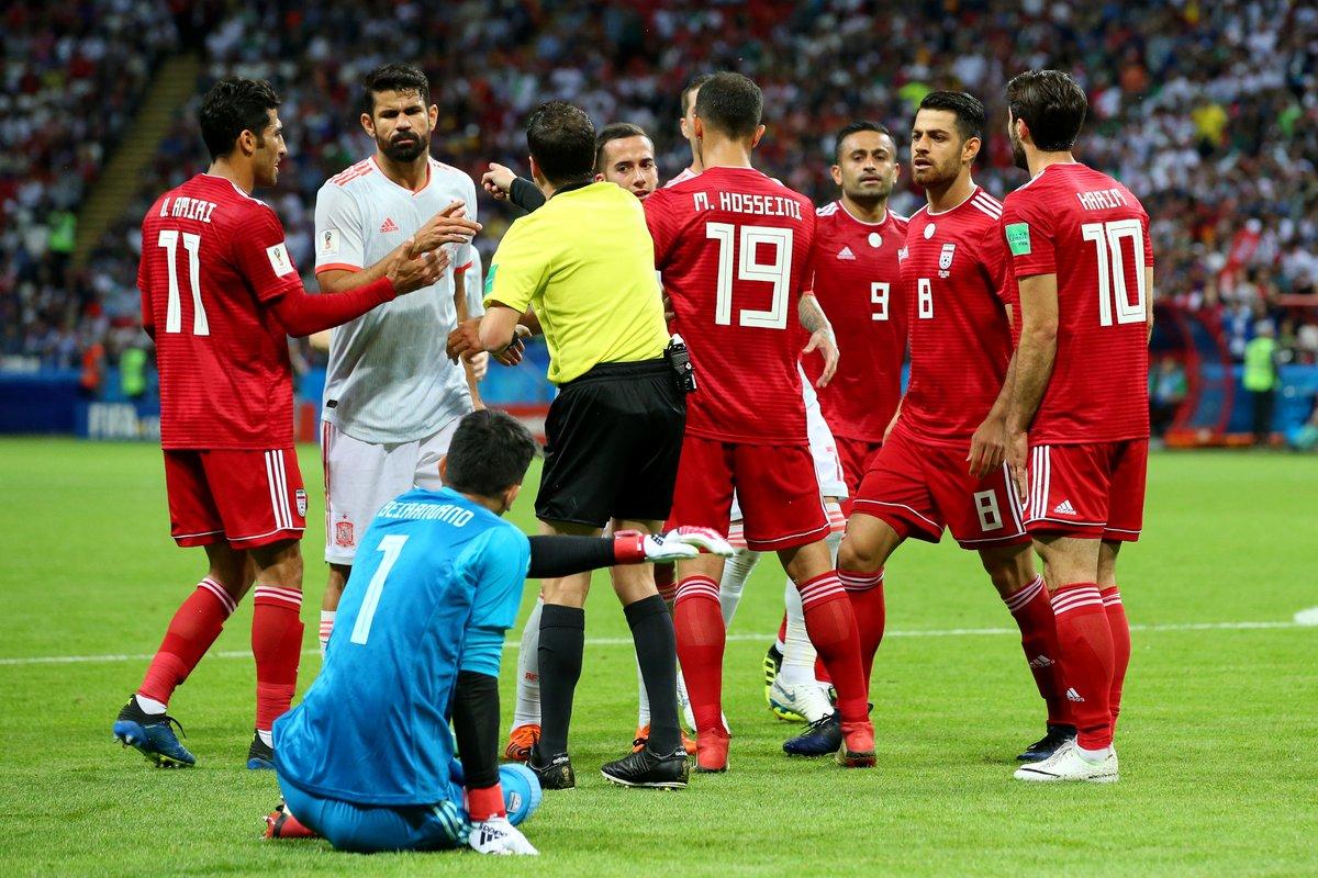 Момент матча Иран-Испания
