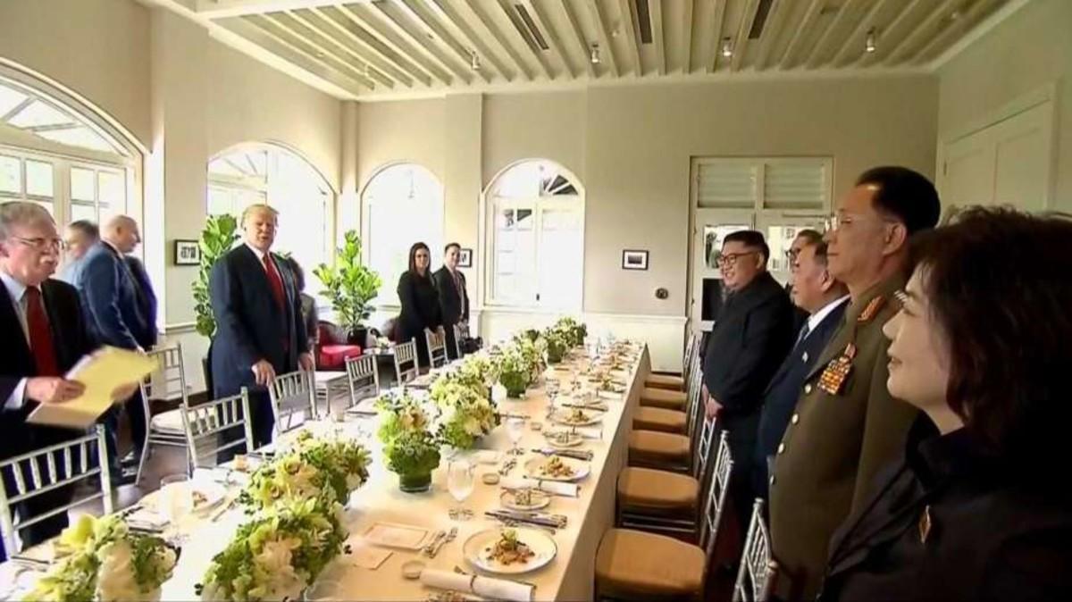 Чем потчевали Ким Чен Ына с Дональдом Трампом
