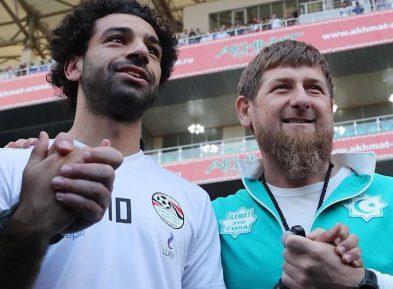 Кадыров чествовал в Грозном знаменитого футболиста