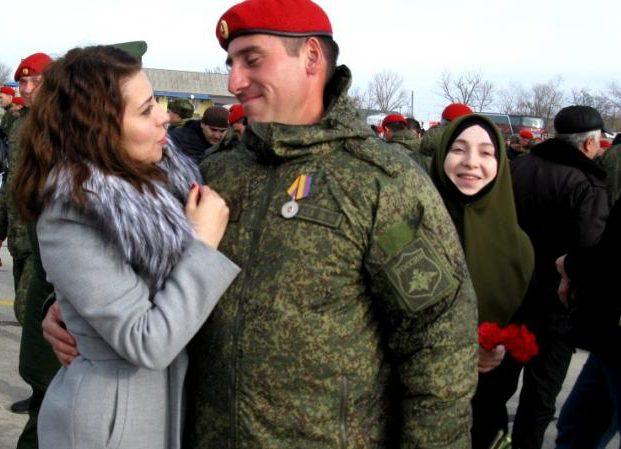 В Северной Осетии чествовали вернувшихся из Сирии военных полицейских