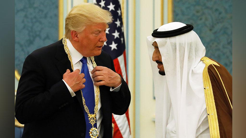 Дональд Трамп и король Салман