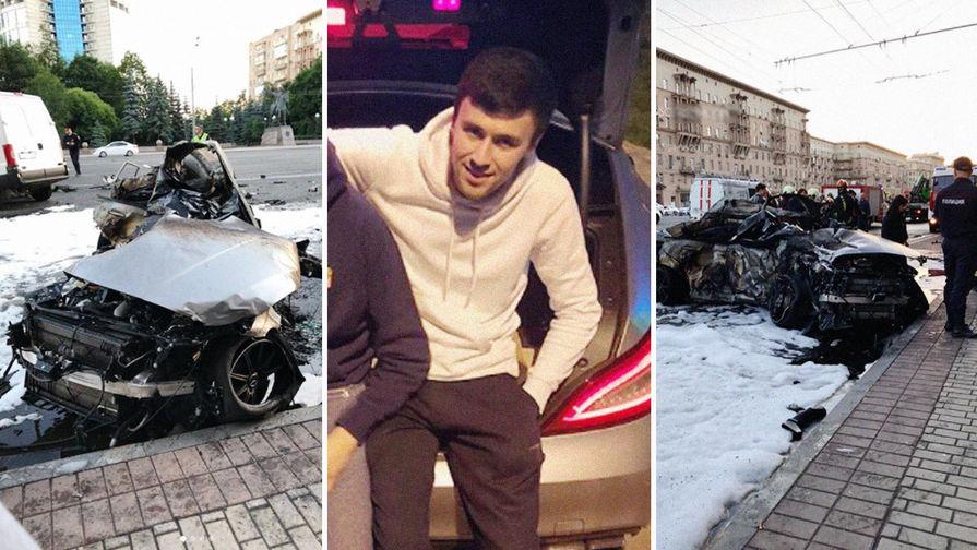 Уроженец Дагестана с другом сгорел заживо в ДТП на Кутузовском (ВИДЕО)