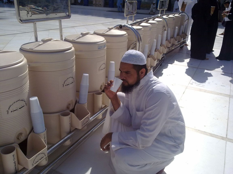 Зам-зам в Заповедной мечети