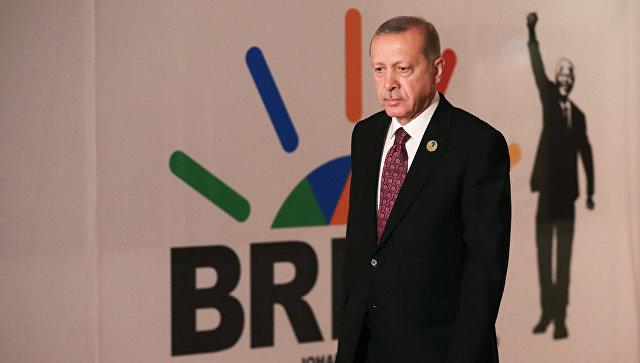 Эрдоган на саммите в Йоханнесбурге. Фото: РИА Новости
