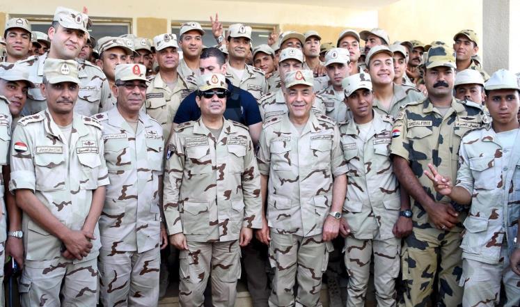 Египетские силовики во главе с Абделфаттахом ас-Сиси