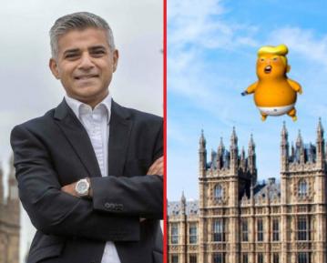 Мэр-мусульманин поддержал изображение Трампа в виде ворчливого малыша в подгузнике
