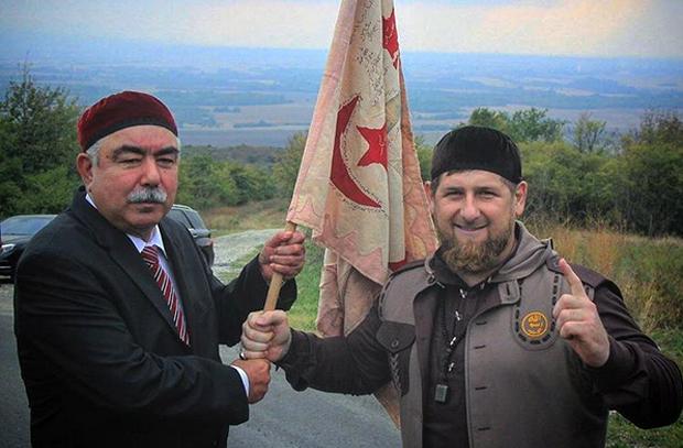 Генерал Дустум  с Рамзаном Кадыровым. Фото: kadyrov_95 / Instagram