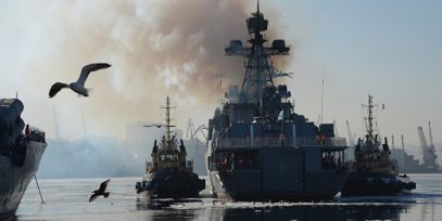 Россия развернула около Сирии мощнейшую группировку кораблей