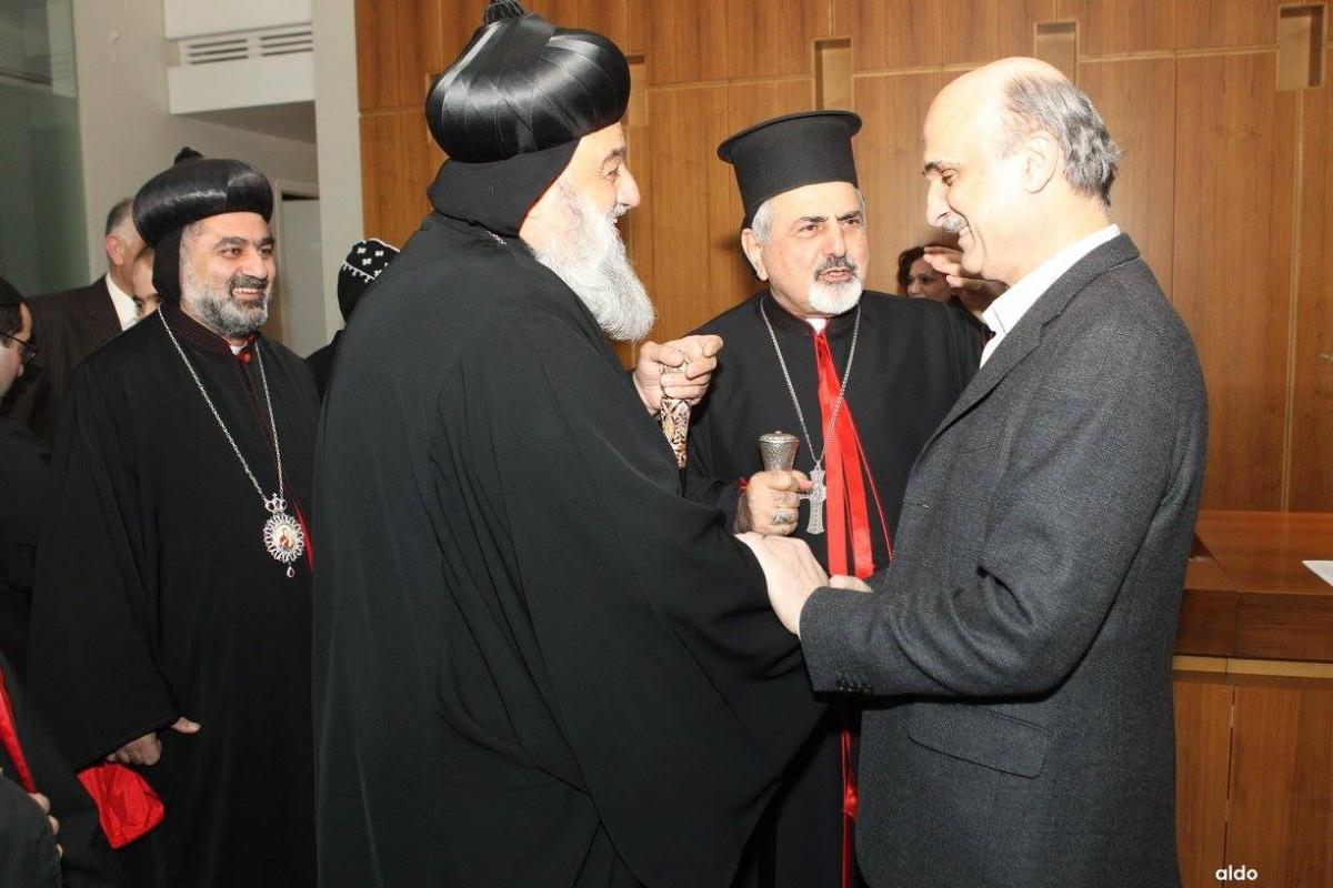 Самир Джаджа с ливанскими священниками