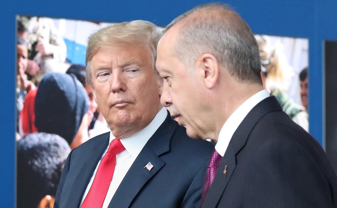 Дональд Трамп и Реджеп Тайип Эрдоган. Июль 2018 года (Фото: Reuters)