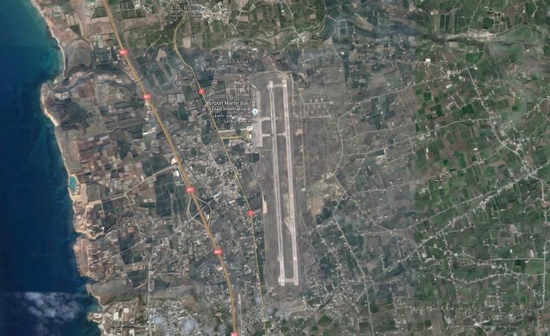 Авиабаза Хмеймим. Снимок со спутника