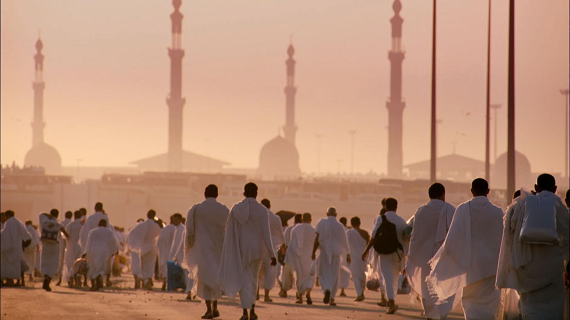 Паломники в Медине