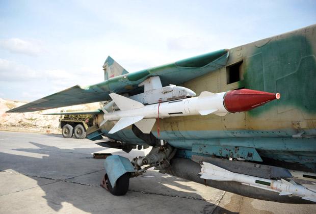 Истребитель МиГ-23 сирийских ВВС на авиабазе «Хама». Фото: ТАСС