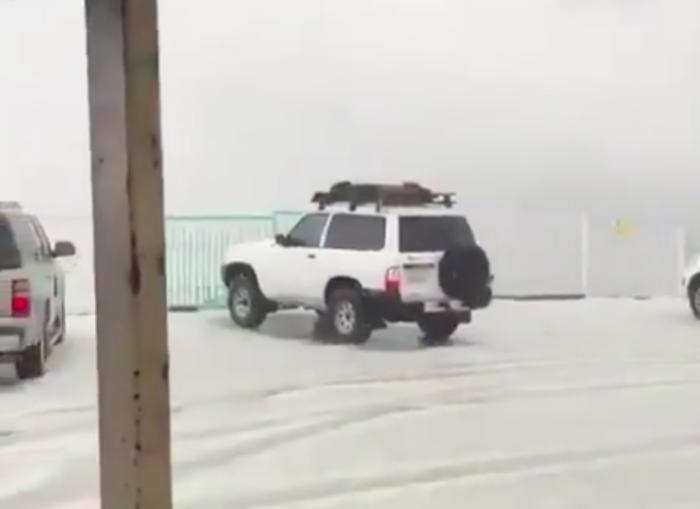 Снегопад посреди лета наделал шума в Саудовской Аравии (ВИДЕО)
