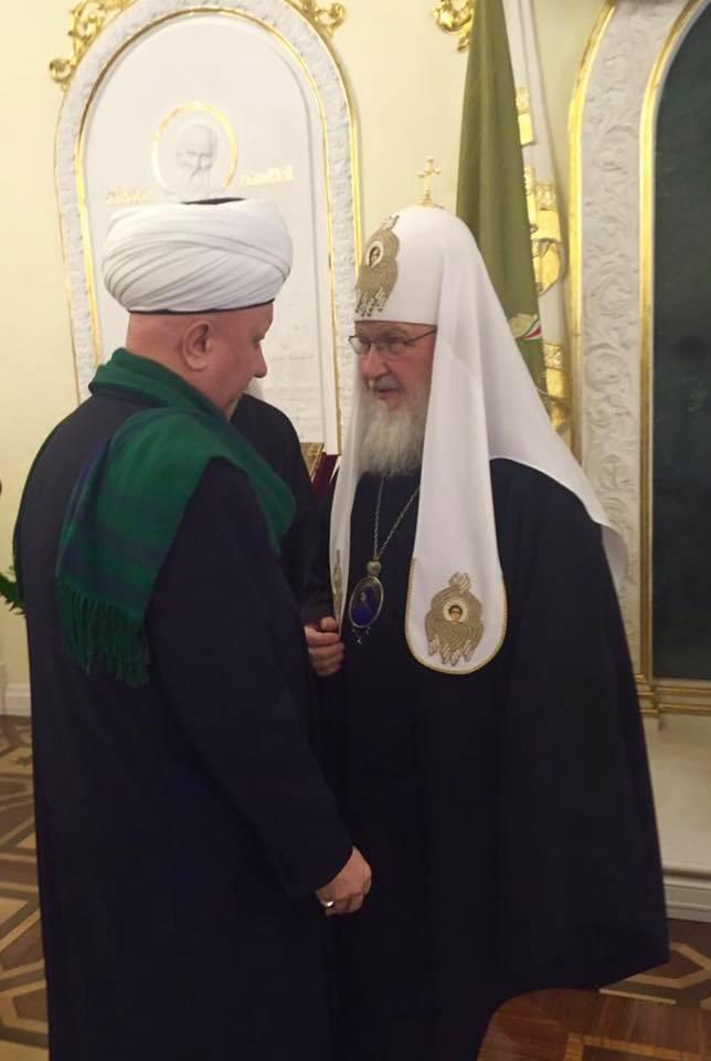 Муфтий Крганов и патриарх Кирилл