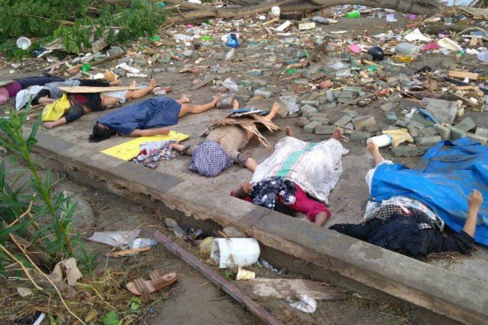 Жертвы природной ЧС в Индонезии